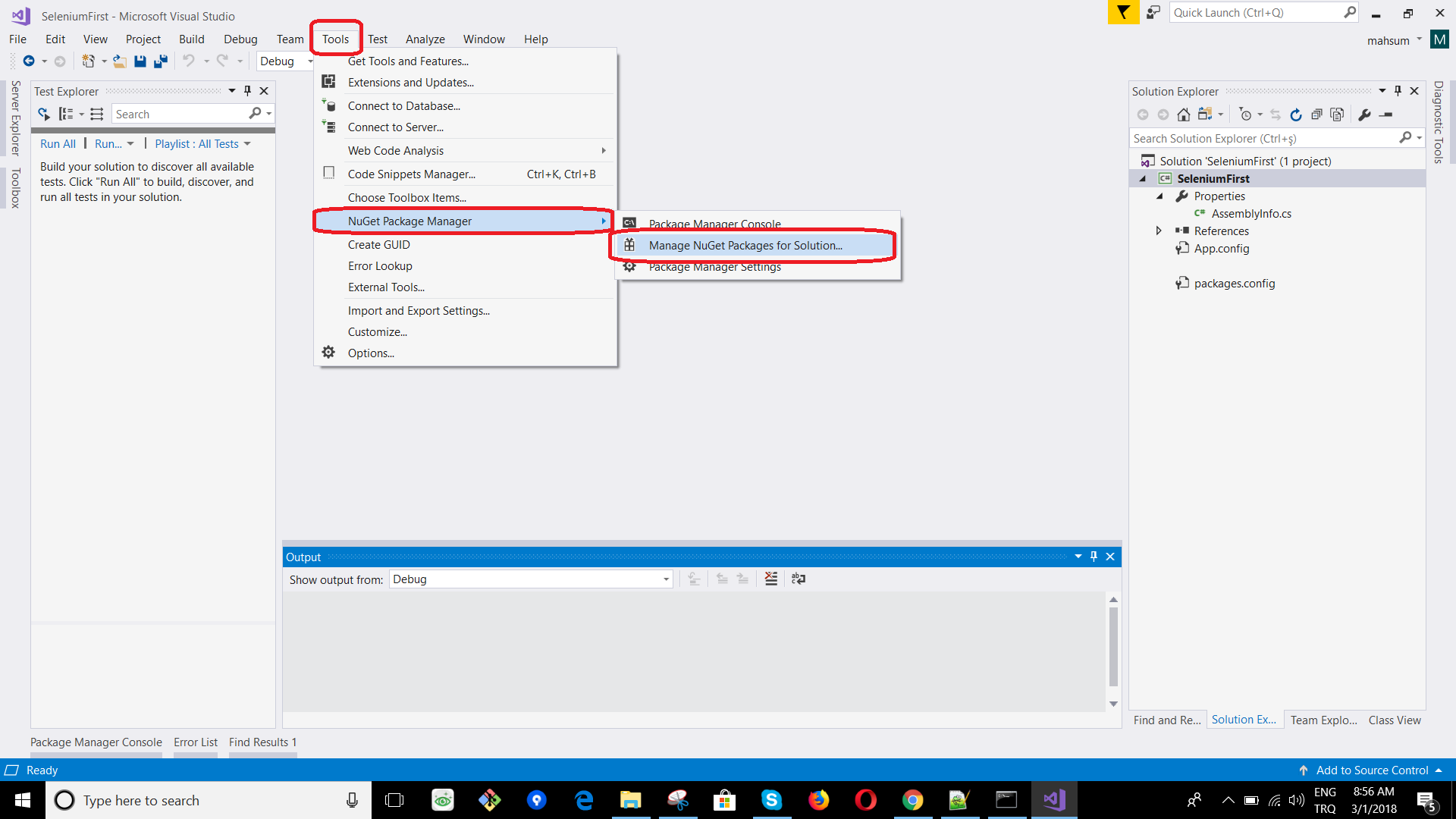 Setup Selenium Webdriver Project in Visual Studio with C# | Software